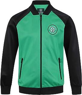 Celtic FC Official Soccer Gift Mens Retro Track Top Jacket