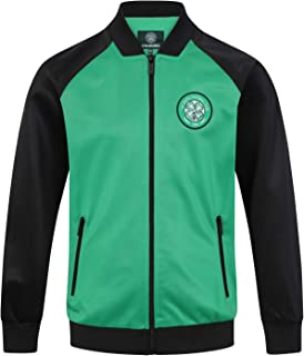 Celtic FC Official Soccer Gift Mens Retro Track Top Jacket