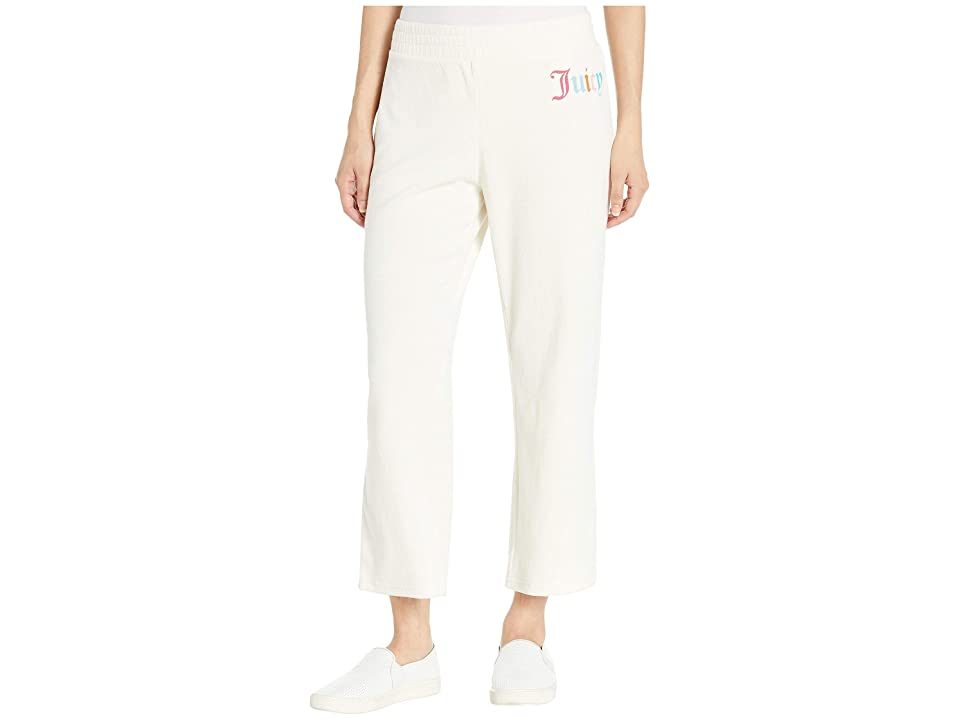 Juicy Couture Gothic Juicy Microterry Logo Track Crop Pants (Angel) Women's Casual Pants, Multi