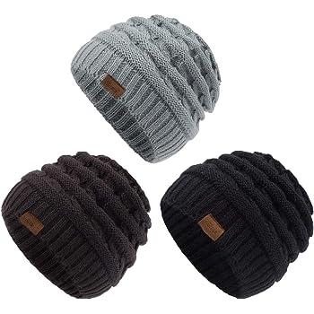 Girls Boys Beanie Hats Dogs Paw Print Trendy Warm Chunky Soft Skull Hat