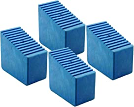 Pies de goma para escaleras de madera, 4 unidades 3 – 8 travesaños Tamaño interior 56 x 23 mm Azul HB40