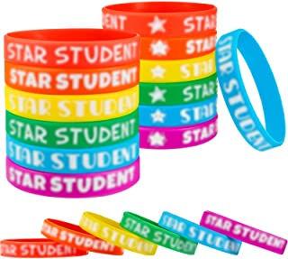 Star Student Wristbands Color Beautiful Star Wristbands Fancy Silicone Bracelets Classroom Teacher Supplies Recognition Aw...