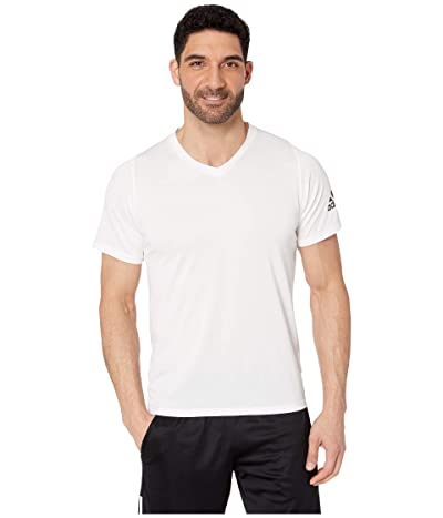adidas Freelift V-Neck T-Shirt (White) Men