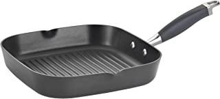 Anolon Advanced Hard-Anodized Nonstick 11-Inch Deep Square Grill Pan with Pour Spouts, Gray - 83629