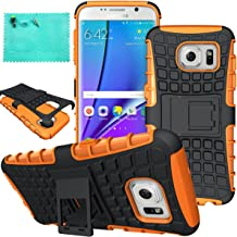 Galaxy S7 Edge Case,Samsung Galaxy S7 Edge Case,Moment Dextrad Dual Layer Defender with Kickstand Protection Case for Samsung Galaxy S7 Edge (2016) (Orange)