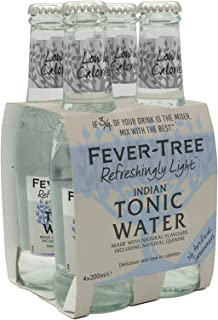Fever tree Refreshingly Light Indian Tonic Water, 200 ml (Pack Of 24)