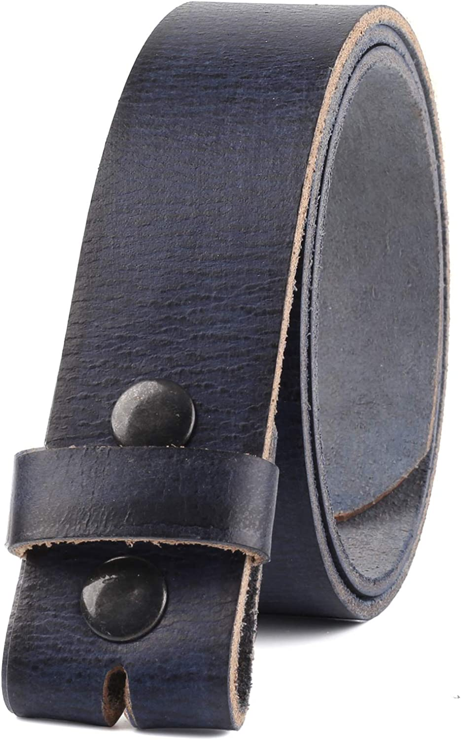 Belt for buckle men Snap on Strap Full Grain One Piece Leather no buckle,1 1//2 Wide Made in USA