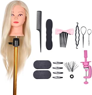blusea Mannequin Head with Clamp Holder for Braiding Hair Styling Practice Manikin Head for Hairdresser Cosmetology Dummy ...
