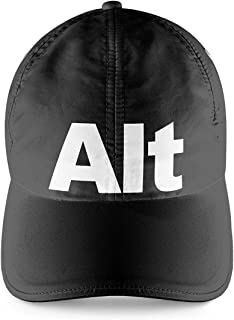 Alt Button Gamers Room Black Cap with White Print Gamer Boy Gift