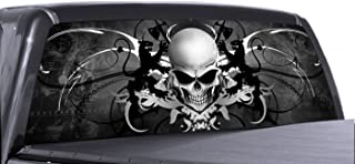 VuScapes - SKULL CREST - Rear Window Truck Graphic - decal suv view thru vinyl