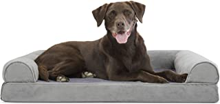 Furhaven Pet Dog Bed | Therapeutic Sofa-Style Traditional Living Room Couch Pet Bed w/..