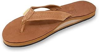 Goods Men's Nubuck Premium Leather Single Layer Arch Sandals