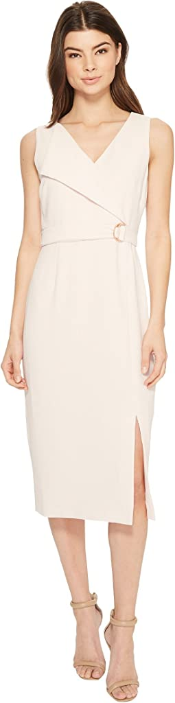 Adrianna Papell Cameron Textured Woven Wrap Sheath