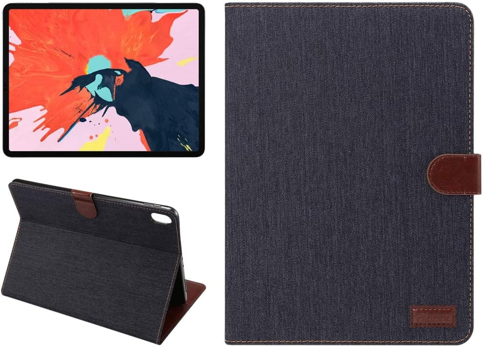 DESHENG Washington online shop Mall Tablet Protective Clips Horizontal Flip Denim Leather Ca