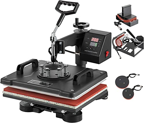 """wholesale SHZOND outlet sale Heat Press popular 12""""x 15"""" 5 in 1 Combo Heat Transfer Machine Multifunctional Digital Transfer Sublimation Heat Press Machine for T Shirts/Hat/Mug/Plate/Cap (12x15 inch 5 in 1) sale"""