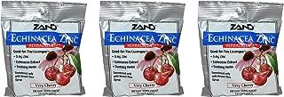 Zand HerbaLozenge Organic Cherry Echinacea Zinc (Pack of 3) With Zinc, Vitamin C and Menthol, 15 count each.