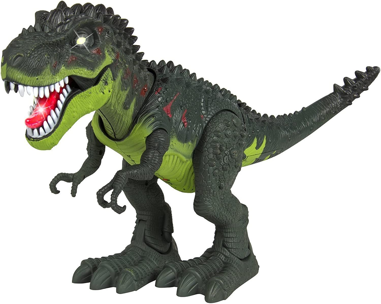 Techege Toys Furious T Rex Moving Dinosaur Battery Powerot Jurassic Era Prehistoric Life Like TREX