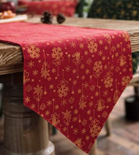 Dine Divine Luxury Table Runner, Hot Stamping Design for Christmas Table Decoration, Family Dinners or Gatherings, Indoor ...