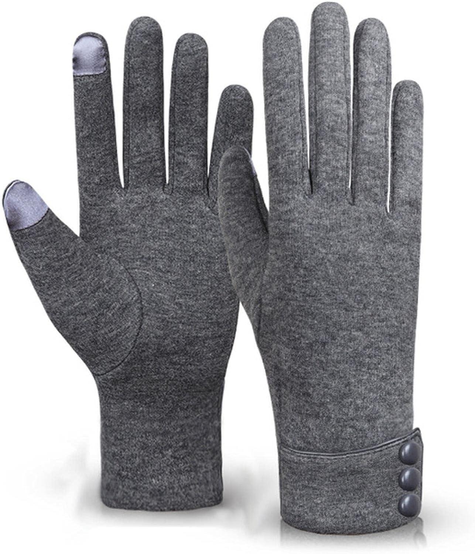 AFGYASW Winter Gloves Warm Touch Screen Riding Windproof Internal Plush Warm Catch Velvet Gloves Women Outdoor Gloves Spring