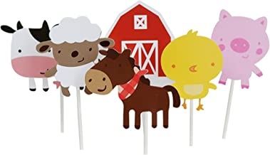 Wolpark 24 PCS Farm Animal Theme Cupcake Topper Cake Picks Decoration for Baby Shower Birthday Party Favors