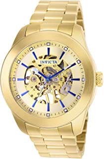 Invicta Men's Vintage Automatic Aviator Watch with Stainless Steel Strap, Gold, 22 (Model: 25759)