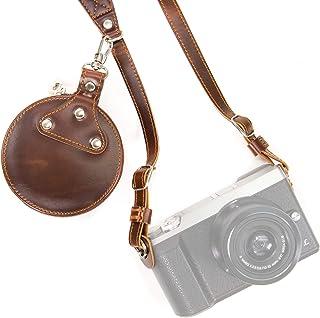 MegaGear mg925Bandolera de Piel con Bolsa de almacenaje para Todos cámara Color marrón Oscuro