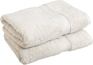 Superior 900 GSM Luxury Bathroom Towels, Made Long-Staple Combed Cotton, Set of 2 Hotel & Spa Quality Bath Towels - Stone, 30