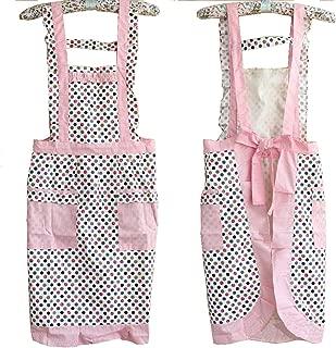 Hyzrz Cute Dot Stylish Pattern Girls Women's Chefs Cooking Cook Apron Bib with Pockets