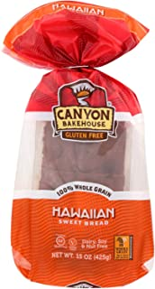 CANYON BAKEHOUSE, BREAD, LOAF, HAWAIIAN SWEET, Pack of 6, Size 15 OZ - No Artificial Ingredients Dairy Free Gluten Free Kosher Low Sodium Wheat Free