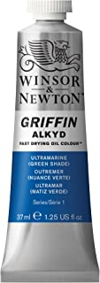Winsor & Newton Griffin Alkyd Fast Drying Oil Colour Paint, 37ml tube, Ultramarine Green Shade