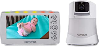 Summer Explore Panoramic Video Baby Monitor with 5-inch Digital Color Screen and Remote Steering Camera – Baby Video Monitor with Remote Digital Zoom, Two-Color Nightlight and Two-Way Talkback
