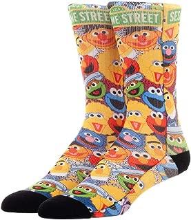 Sesame Street Adult Sublimated Character Design Crew Socks For Men For Women