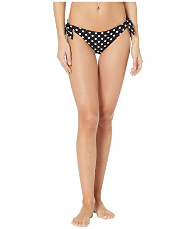 Kate Spade New York Lia Dot Reversible Side Tie Bikini Bottoms (Black) Women