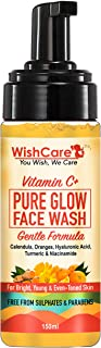 WishCare Vitamin C+ Pure Glow Face Wash for Men & Women Daily Use - with Vitamin C, Hyaluronic Acid, Niacinamide, Oranges,...