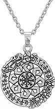 Ancient Talisman Wolfsangel Rune The Helm of Awe Aegishjalmur Pendant Viking Jewelry for Men Women