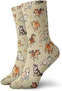 Popweek01 - Calcetines tobilleros casuales para hombre, mujer, color crema