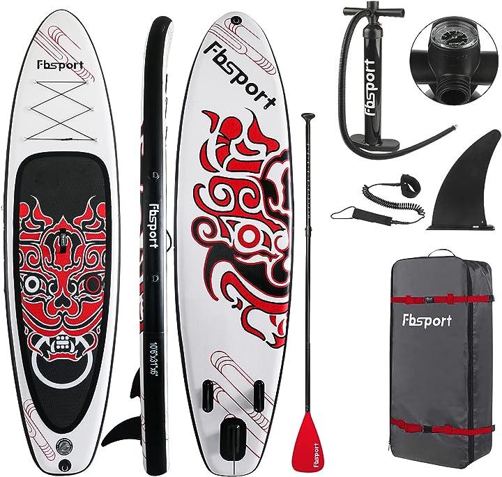 Tavola da sup 15cm spessore tavola da stand up paddle stand up paddle board gonfiabile fbsport B0922TJK4G