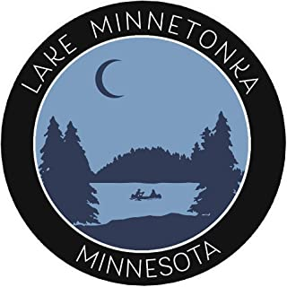 Lake Minnetonka, Minnesota Crescent Moon Boat Vinyl Printed Die-Cut Decorative Auto Decal Sticker ~ Lake Life Adventure Souvenir Vacation Series