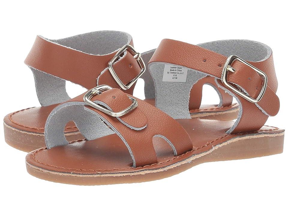 Baby Deer Classic Leather Sandal Walk (Infant/Toddler/Little Kid) (Tan) Kids Shoes
