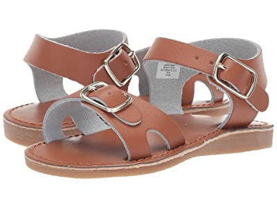 Baby Deer Classic Leather Sandal Walk (Infant/Toddler/Little Kid) (Tan) Kids Shoes