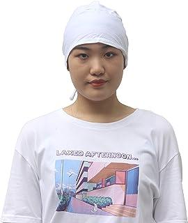 Women's Under Scarf Caps Cotton Bonnet Turban Hat with Tie-Back Head Wraps