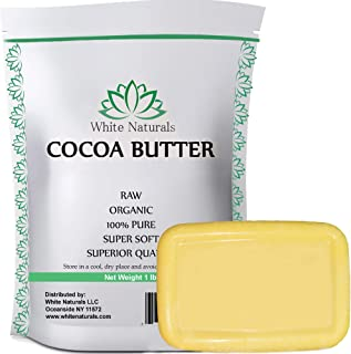 CHRISTMAS SALE! Raw Cocoa Butter 1 lb, Unrefined, Pure, Natural, Perfect For Skin Care & Hair Care, All DIY...