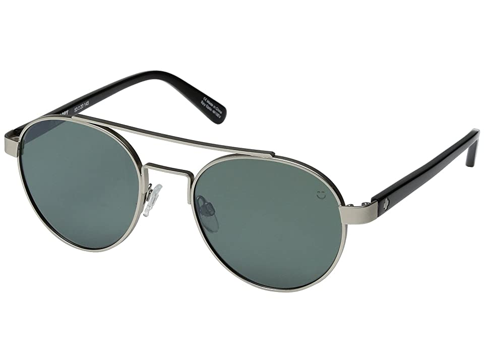 Spy Optic Deco (Matte Silver/Black/Happy Gray/Green/Silver Mirror) Sport Sunglasses