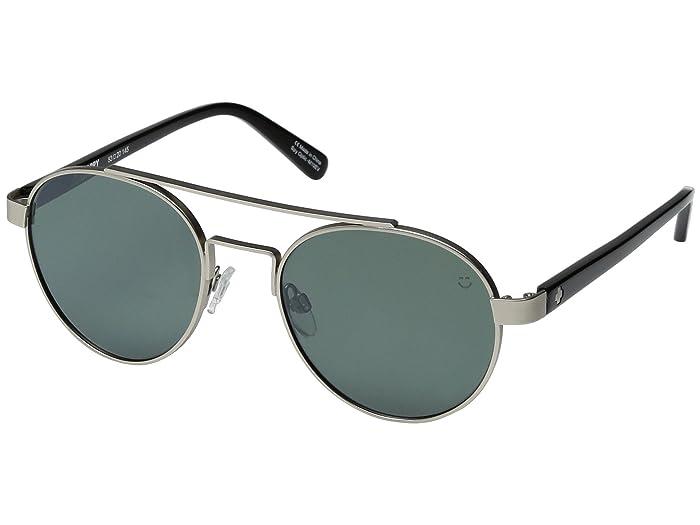 Spy Optic Deco (Matte Silver/Black/Happy Gray/Green/Silver Mirror) Sport Sunglasses