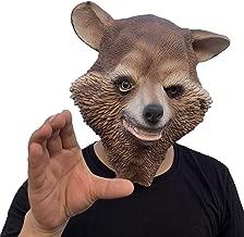 ifkoo Fox Mask Latex for Halloween Novelty Costume Raccoon Animal Head Mask