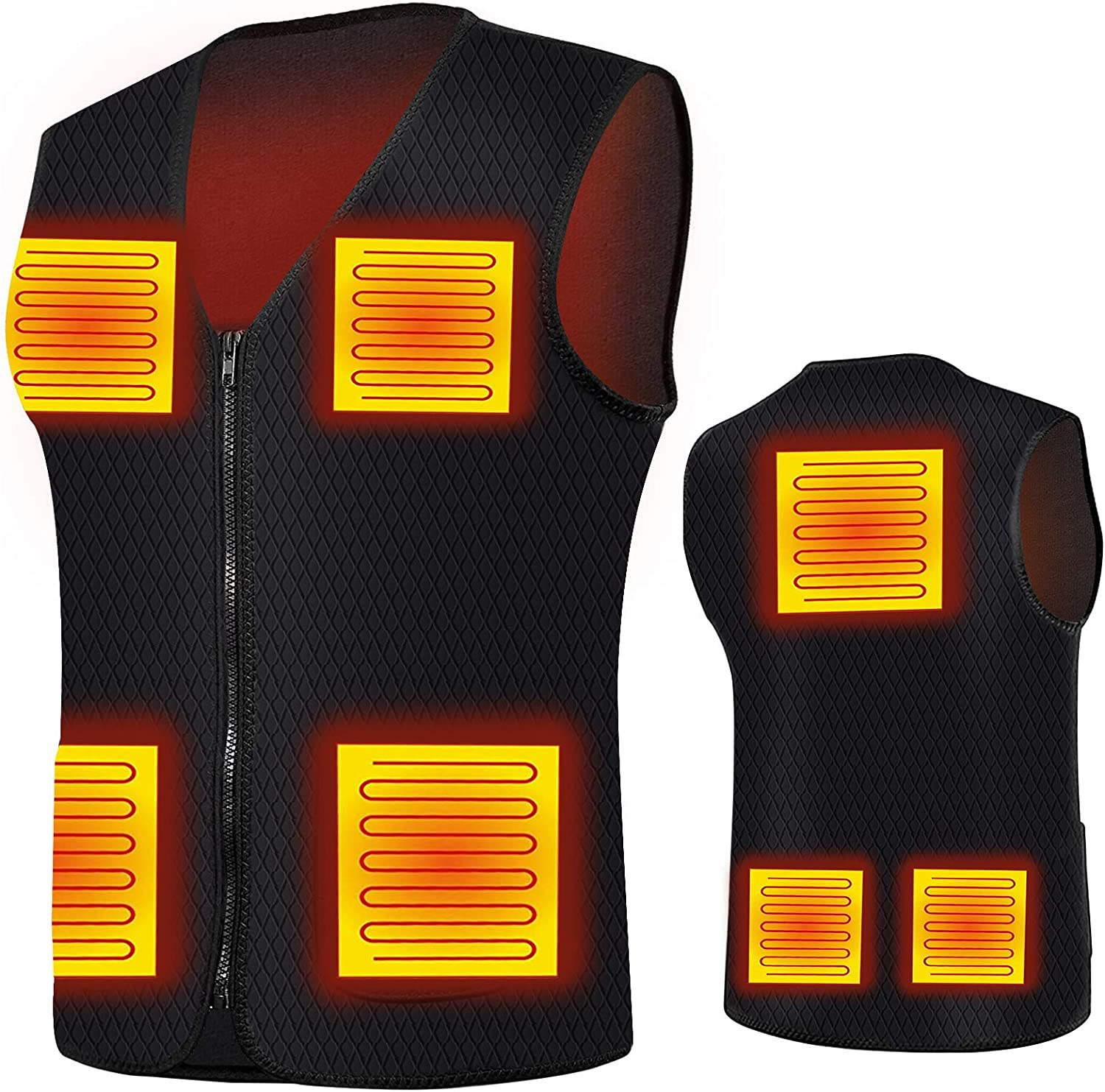 Heated Vest for Men Women with Jacket Electric 7 Popular brand in the world Heating Ranking TOP8