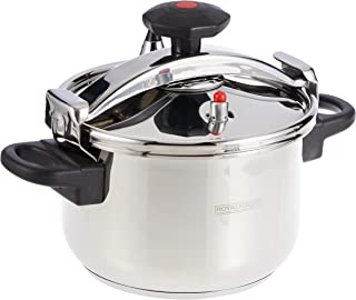 Royalford Stainless steel Pressure Cooker 5L, Multi-Colour, RF9649
