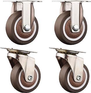 LKLXJ Bureaustoel wielen 4 stks, Industriële wielen met rem, 360 graden flexibele rotatie, Swivel Caster wielen, Met Top p...