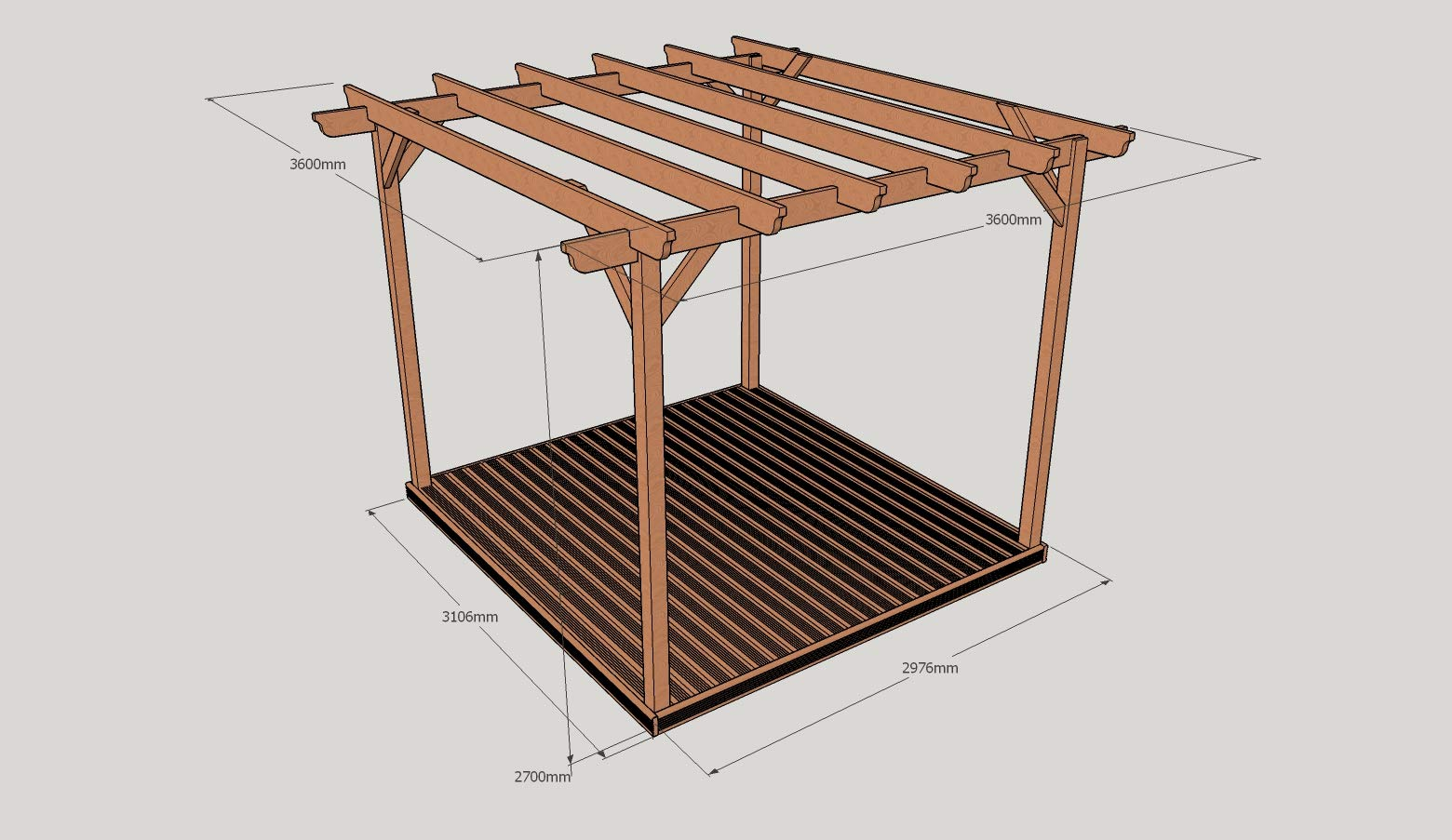 Rutland County Garden Furniture Kit de Pergola de Madera y ...