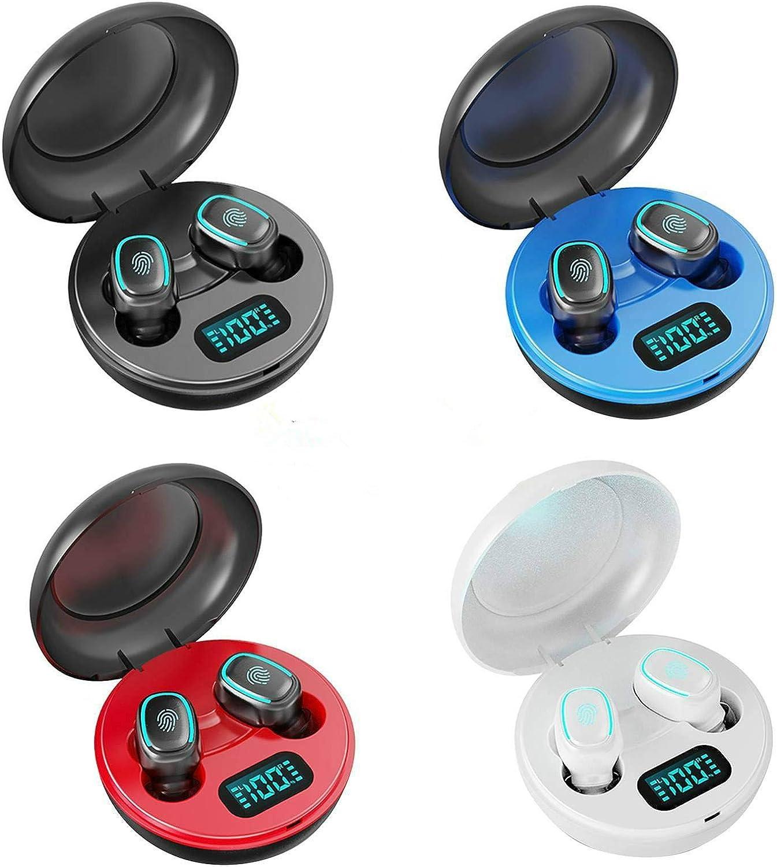 cocos True Bluetooth Headphones 5.0 Mini Earbuds Sweatproof Sport Headset in-Ear Earphones Touch Control with Charging Case Battery Digital Display (Black)
